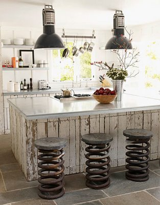 Industiral Interior Design Ideas · Old Wood Surfaces With Scratched Paint  Works Well In Industrial Interiors.