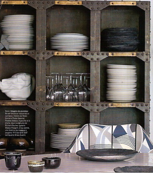 Industrial Interior Design Ideas modern industrial interior design Industiral Interior Design Ideas Rough Metal Shelving System Looks Quite Industrial