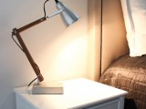 bedside lamp base of concrete