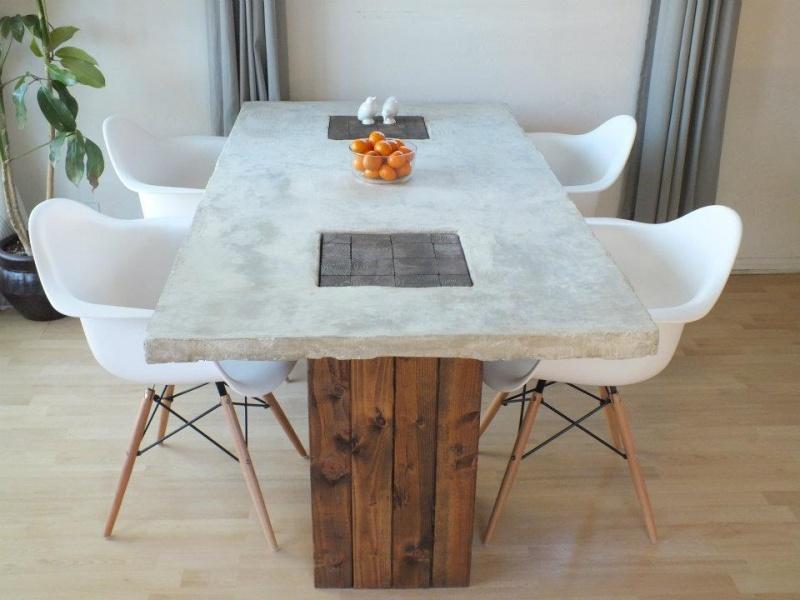concrete table island
