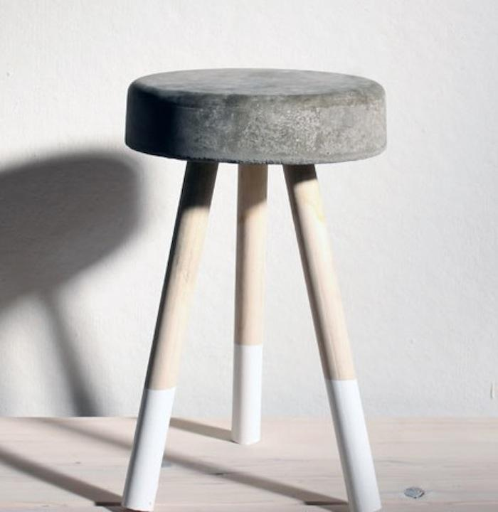 concrete stool for 5 via remodelista chic industrial furniture