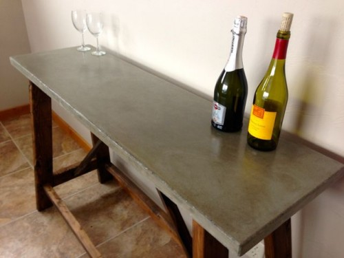 Industrial Chic 13 Awesome Diy Concrete Furniture Pieces