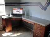 polished concrete desk