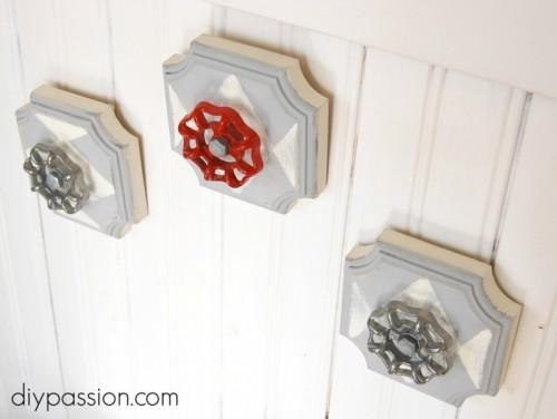 Industrial Decor Idea: DIY Faucet Wall Hooks
