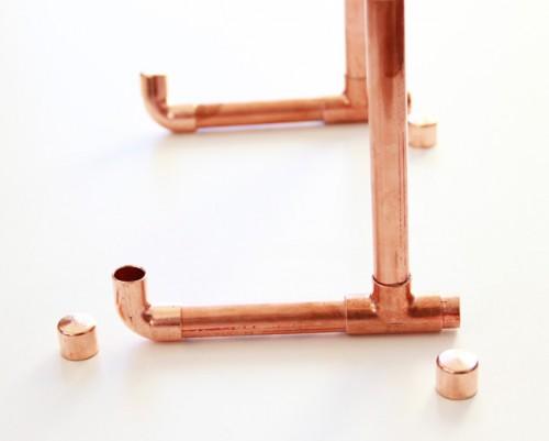 Industrial DIY Copper Pipe iPad Holder
