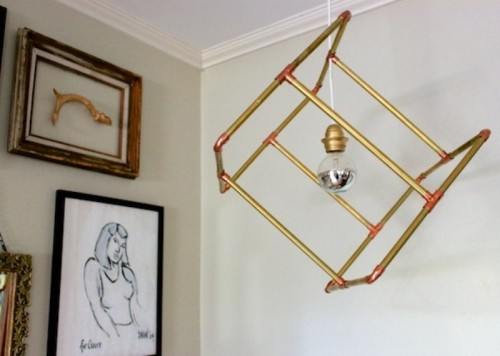 Industrial Diy Geometric Pipe Pendant