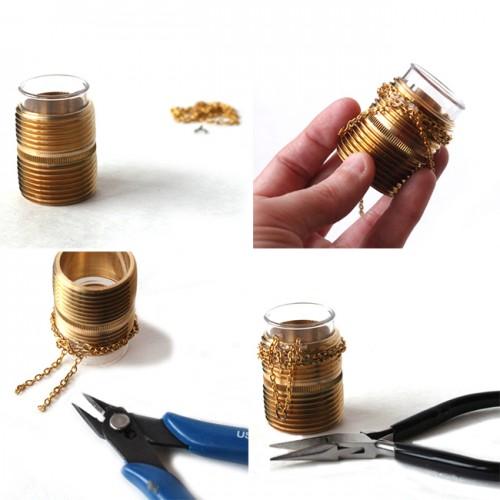 Industrial Diy Mini Vase With Hardware Supplies