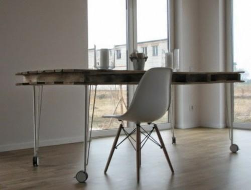 Industrial Diy Pallet Dining Table