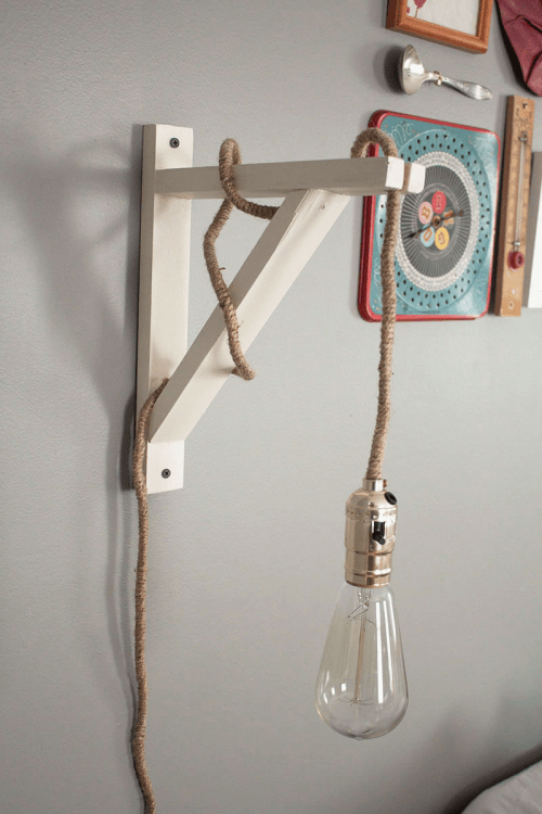 Homemade Wall Lamp : Industrial Vintage DIY Wall Lamp - Shelterness
