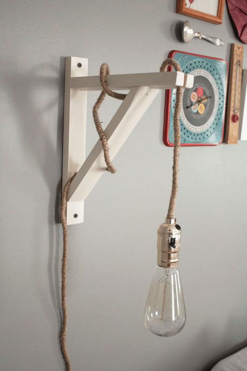 Industrial Vintage DIY Wall Lamp