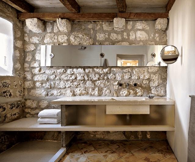 Дизайн стен из камня фото