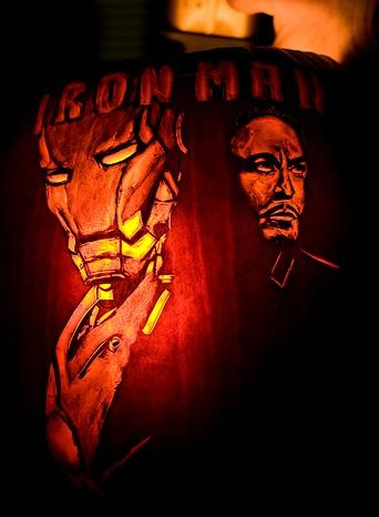 Iron Man Pumpkin Face