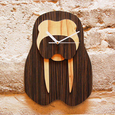 Jungle Clock Walrus