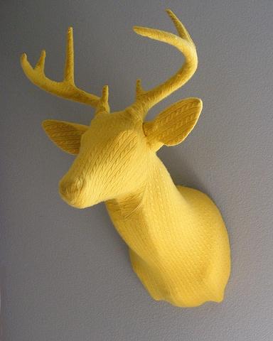 Yellow antlered buck