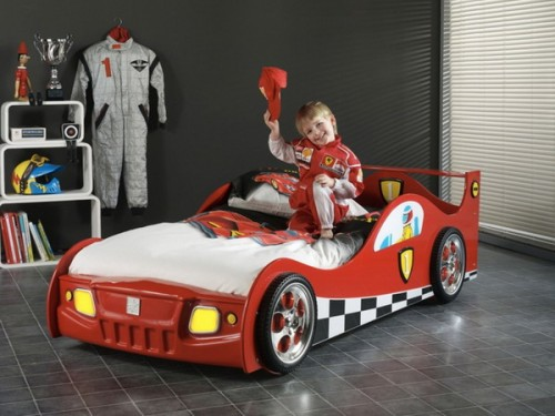 Racing car bed is perfect for any boy. They all want to become racers when they grow up.