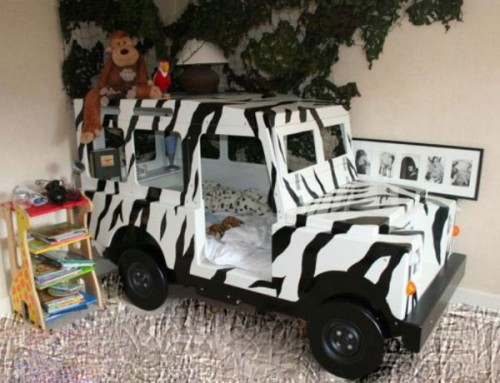 For those little safari fans there is a special bed shaped like a 4x4 jeep.