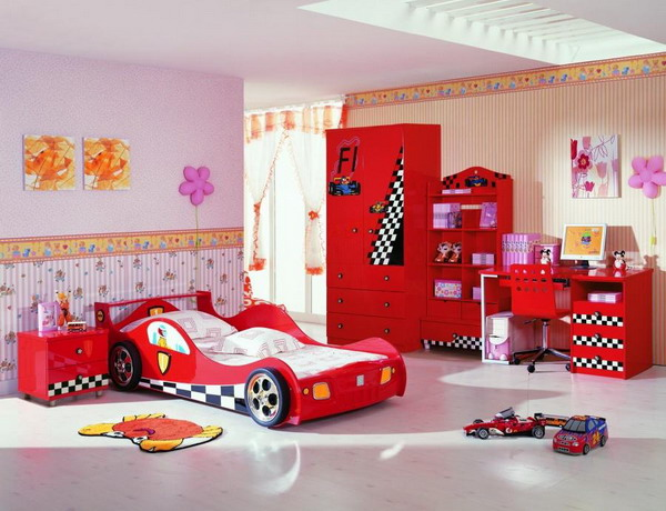 Kids beds like cars shelterness - Stickers voiture chambre garcon ...