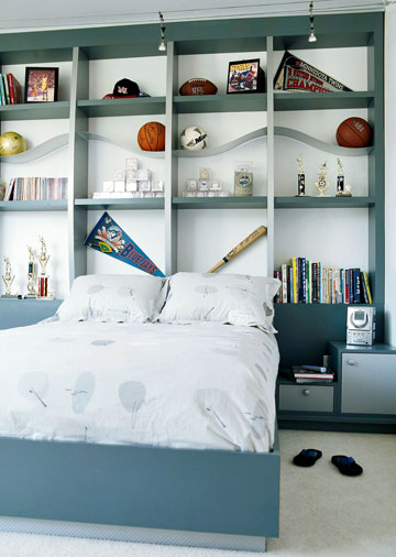 Kids Bookcase Headboard