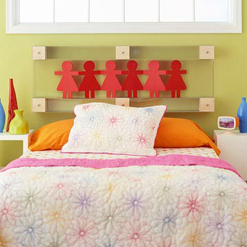 Kids Dolled Up Headboard