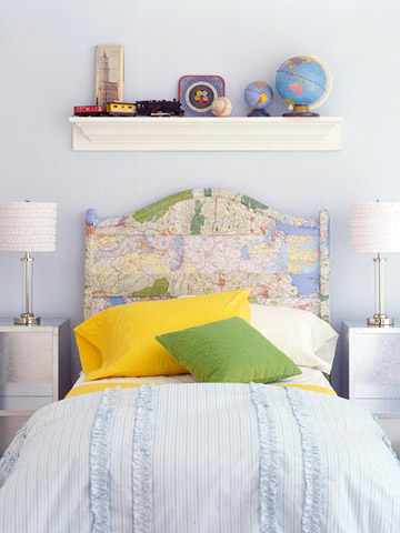 Kids Map Headboard