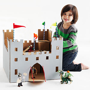 DIY Cardboard Box Castle