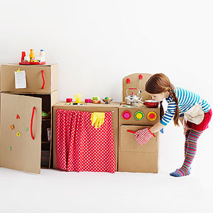DIY Cardboard Box Play Kitchen