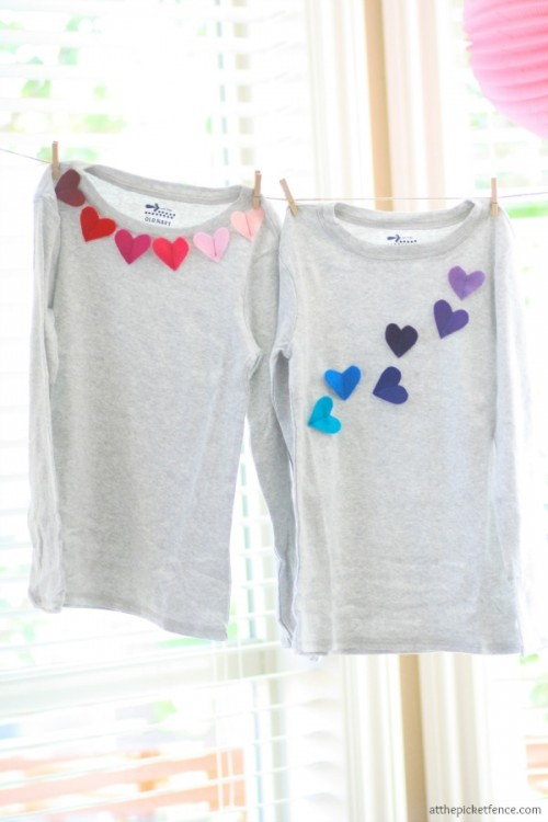 DIY kids' heart T shirt