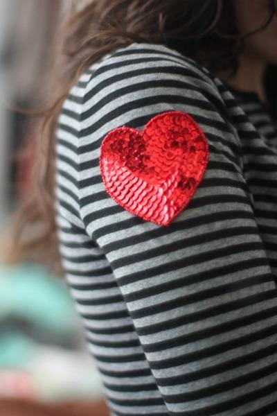 DIY sleeve heart