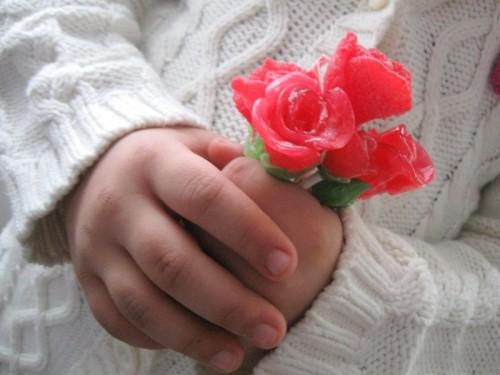 DIY rose candies