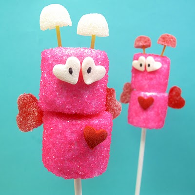 DIY marshmallow love bugs (via thedecoratedcookie)