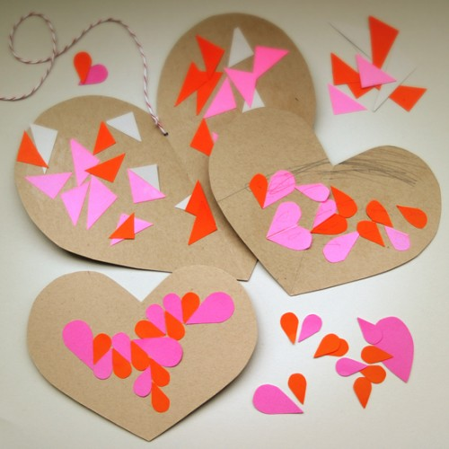 DIY geometric valentine hearts (via smallforbig)