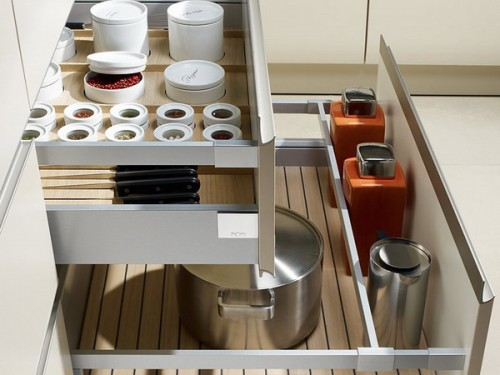 Several drawers always work as a charm. Everything could be easily organized there thanks to the fact they have exactly right size.