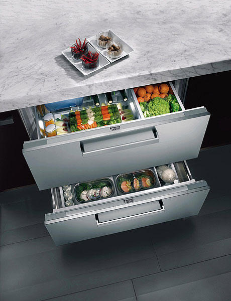 Refrigerator drawers could help you to keep fresh veggies on hand.