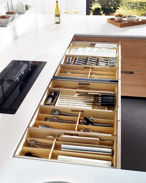 Kitchen drawer organization ideas 2