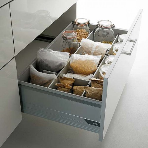 Different kinds of cereal could fit one drawer.