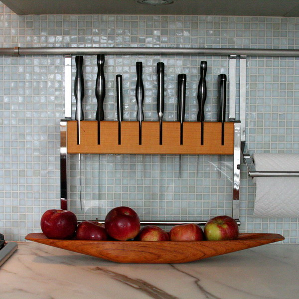 Kitchen Rails Storage Ideas