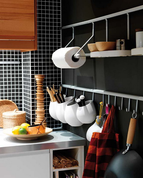 31 Practical Kitchen Rail Storage Ideas