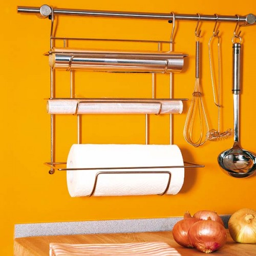 31 Practical Kitchen Rail Storage Ideas - Shelterness