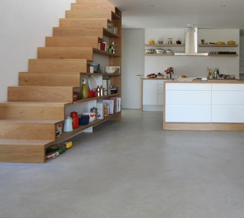 Kitchen Under The Stairs In A Large House (via Linea Studio)
