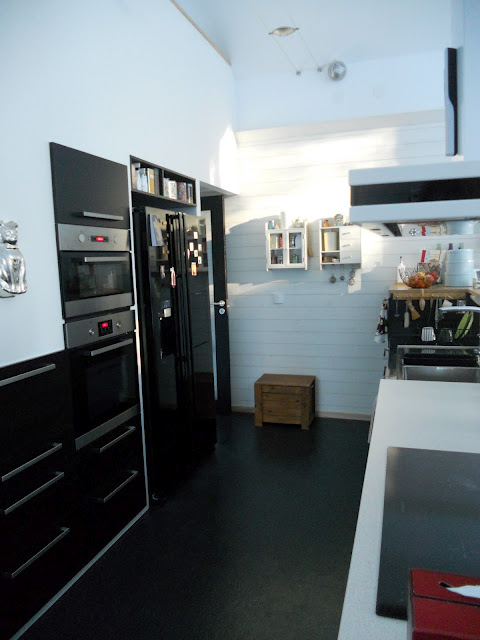 Modern Built-In IKEA Kitchen Under The Stairs (via ikeahackers)