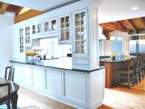 Kitchen With A Room Divider As Extra Storage