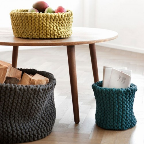 20 Knitted Elements of Decor and Furniture Pieces