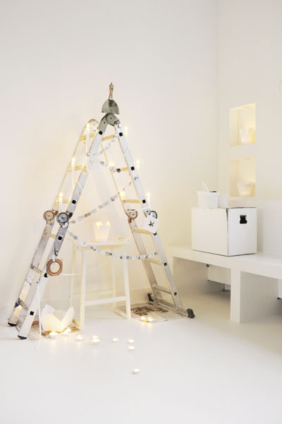 Ladder As Christmas Tree
