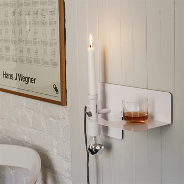 Lamp Combined With Shelf