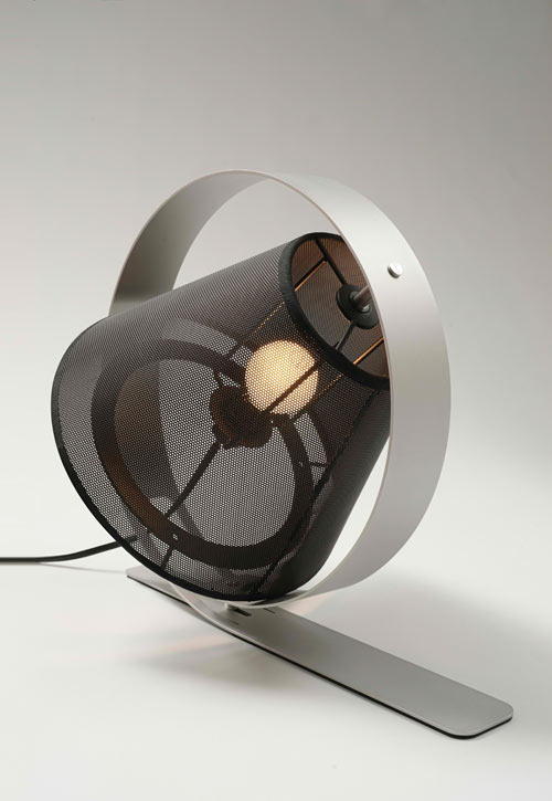 Laser Cut Futuristic Tabletop Lamp photo