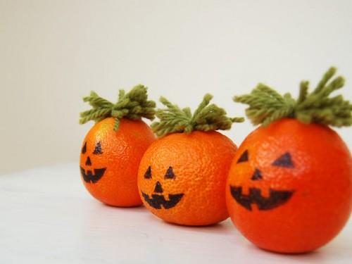Last Minute Diy Halloween Pumpkins From Oranges