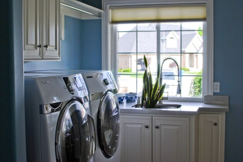 Consider yourself lucky if you have a window in your utility room. It will be filled with natural light and that