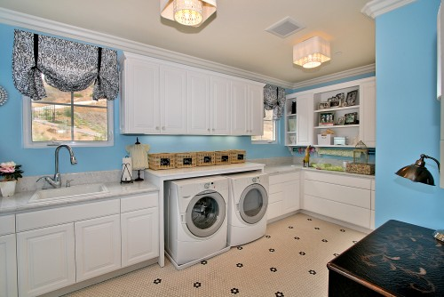 If your laundry room is spacious enough - don't forget about a sink.