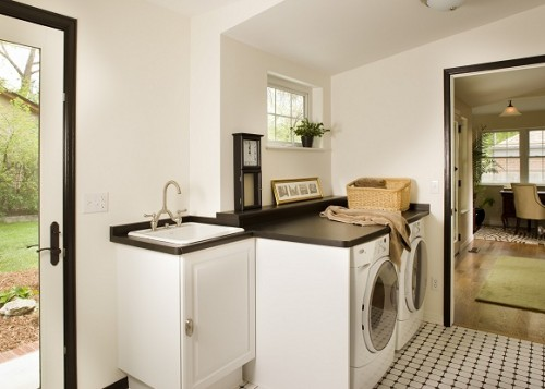 Mudroom's laundry spaces are quite popular nowadays.