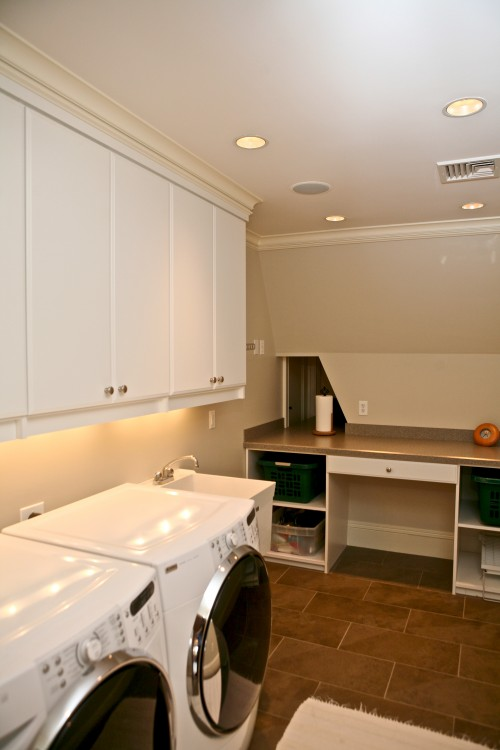 Attic is one of those places which could easily become a fully functional laundry room instead of simple storage space.